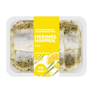Heringshappen mit Zitronengras und Pfeffer